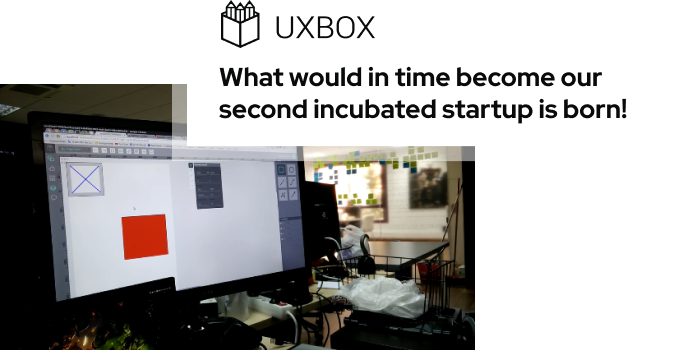 What would in time become our second incubated startup is born!