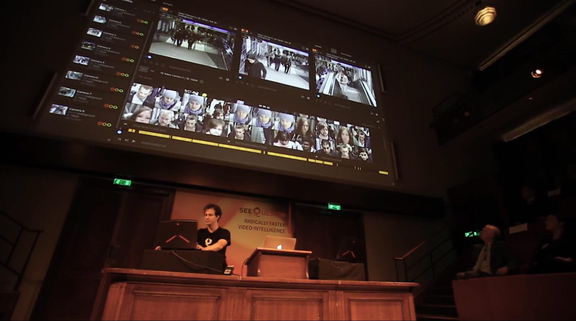 SeeQuestor demo presentation Faraday Theatre, Royal Institution (UK)