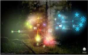 A visualization of how the Taiga development team built our tool.